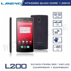 Original LANDVO L200 Android Phone MTK6582W1.3GHz Quad Core 1G RAM 8G ROM 8MP Camera 5' IPS Screen