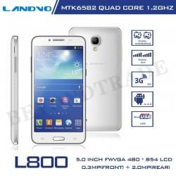 Original Landvo L800 Andorid 4.2 MTK6582 Quad Core 4G ROM 5.0'' 5.0MP Camera Dual SIM 3G