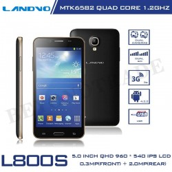 Original Landvo L800S Android MTK6582 Quad Core 1G RAM 4G ROM 5.0'' IPS Screen 5.0MP Camera Dual SIM 3G