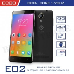 ECOO Brand Shining(E02) Octa Core Android Phone MTK6592 1G RAM 8G ROM 5.5'' IPS Screen 8.0MP Camera Original