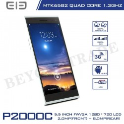 Elephone Brand P2000C Android MTK6582 Cortex A7 Octa Core 1.7GHz 1G RAM 8G ROM Phone With 8MP HD Camera Cell Phones