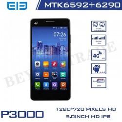 Elephone Brand P3000 Quad Core Cellphones MTK 6582+6590 Mali-400 GPU 1G RAM 8G ROM Android Phone With 13MP HD Camera