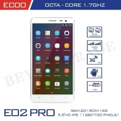 New ECOO Brand E02 Pro Octa Core MTK6592 2G RAM 16G ROM With 5.5''IPS Screen 13MP Camera Android Phones