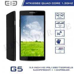 Original Elephone Brand G5 Android 4.4.2 MTK6582 Quad Core 1G RAM 8G ROM 13.0MP Camera Dual Sim Card 3G