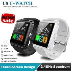 Bluetooth Smartwatch WristWatch U8 SmartWatch for iPhone 4S/5/5S/6 Samsung S4 Android Phone Passometer Music Calls
