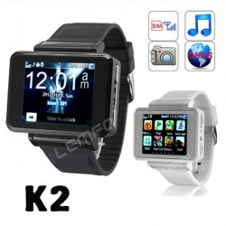 """K2 Smart Watch Phone 1.8"""" Bluetooth Dial Smartwatch Phone Support GPRS/FM/MP4/Video with Sim Card Slot/ Camera"""