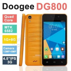 "Original DOOGEE VALENCIA DG800 MTK6582 IPS Quad Core 1.3GHz Android 4.4.2 Smart Phone 4.5"" IPS 1GB RAM 8GB ROM 13.0MP GPS 3G"