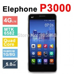 Elephone 4g lte phone P3000 P3000S Cell Phones 5.0 Inch 1280x 720 pixels android 4.4 MTK6582+6290 Octa Core Dual Sim