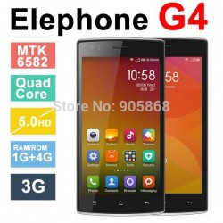 Original Elephone G4 5.0inch 1280*720 pixels MTK6582 1.3GHz Quad-Core 1GB RAM 4GB ROM 8MP Camera Android 4.4.2 Cell Phones Gift