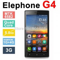 Original Elephone G4 Android 4.4 MTK6582 Quad Core GPS 5.0 Inch 1280*720 IPS 8.0MP 3G WCDMA With Gifts