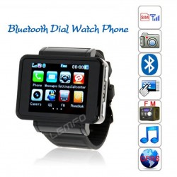 K2 Watch Phone Unlocked 1.8'' Wrist Moible SmartWatch Bluetooth Dial SIM GSM 1.3MP Camera FM MP3/MP4 Handsfree New