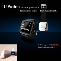 Newest Bluetooth Watch U Watch 2 Smartwatch Smart Watch Android Wearable Music Number Call Sync For Android Samsung iPhone New