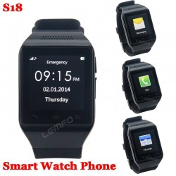 S18 Bluetooth Smart Watch Phone 1.54inch SmartWatch Unlocked Cell Mobile GSM SIM FM Sync Call Android OS Anti Lost Handsfree New