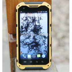 2G RAM 16GB ROM A9 yellow IP68 waterproof 4.3 inch MTK6589 8 Cores Android 4.2 Smart Phone GPS 3G dual SIM 8MP