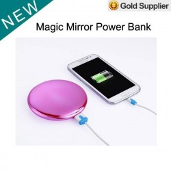 1 piece only 7000Mah Real mirror power bank gift power bank lady power bank for and tablet Mirror Power Bank