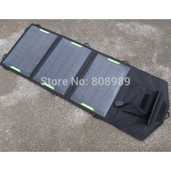 10.5W Solar Charger For iPhone/Smart Phones/Mobile Power Bank+Foldable Battery Charger Bag/Wallet+Mono Solar Panel