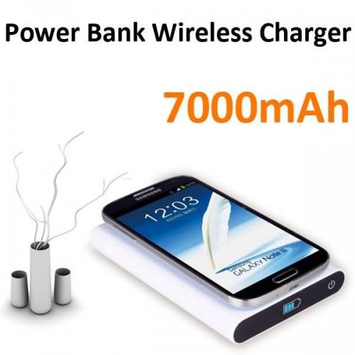 Buy 7000mAh Qi standard Power Bank Wireless Charger Charging