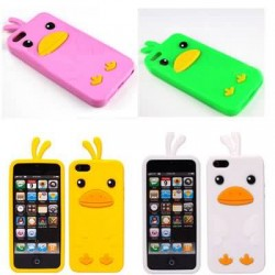 1 PC Colorful 3D Cartoon Silicon Rubber Back Case Cover For Apple Iphone 5 5G