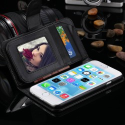 1 pc Retail Leather Wallet Cellphone Case For iphone 6 Plus 5.5 inch Phone Cover Photo Frame Card Cash Holder RCD03913_5