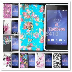 Colorful Flower TPU Case Cover For Sony Xperia T3 D5102 D5103 D5106 Cell Phone Cases +