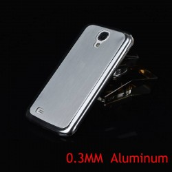 0.5MM Thin Brushed Aluminum Hard Phone case for Samsung Galaxy S4 i9500 SIV Luxury Metal Back Cover
