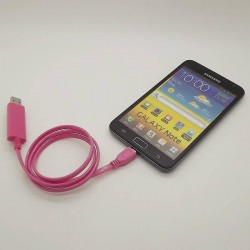 0.8m visible light data sync charger EL Micro USB Cable for Samsung S3 S4 Sony Nokia HTC LG Android Phones Pink