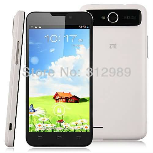 Buy ZTE V987 Smart Phone Android 4.1 MTK6589 Quad Core 5.0 Inch HD IPS Screen 8.0MP Camera Resolution 1280*720 online