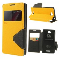 1 PCS Case For Sony Xperia C C2503 ,Roar Korea Diary View Window Leather Cover Stand for Sony Xperia C C2305 S39h