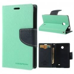 1 PCS Case Mercury Fancy Diary Wallet Leather Stand Case for Nokia X A110 / X plus Dual SIM