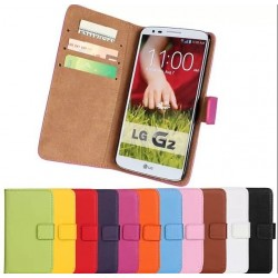 10 color Stand Wallet Genuine Leather Case For LG Optimus G2 D802 Bag Luxury Cover case New Arrival Drop Ship