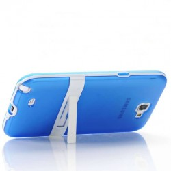 10 colors Stand Design Transluscent Soft TPU Rubber case for Samsung Galaxy Note 2 II N7100 Phone Cover