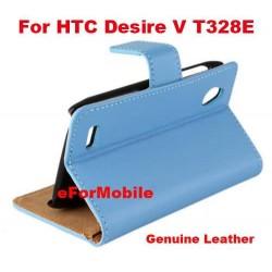 100% Genuine Leather Case Case Wallet Stand Cover For HTC Desire V T328E HTC Desire X T328W