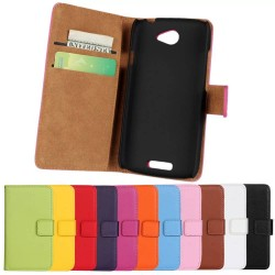 100% Genuine Leather Flip Case for HTC One S Z520e Phone Sleeve Cover Wallet Stand Design
