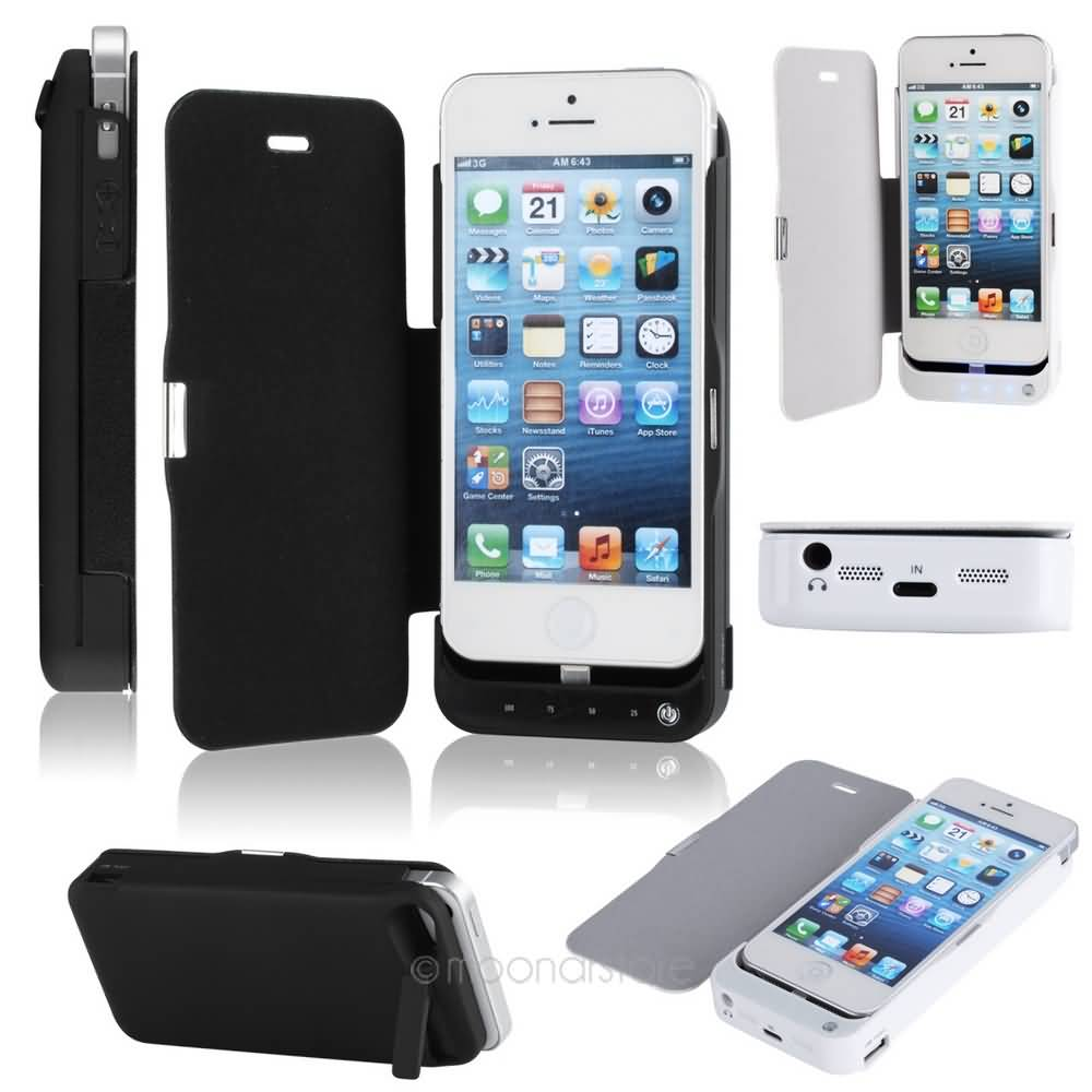 Power Bank Case Juice Pack Plus Powerbank Backcover Iphone 5 Black White Portable Charger 4200mah External Battery For With Protect Cover Ynda0865