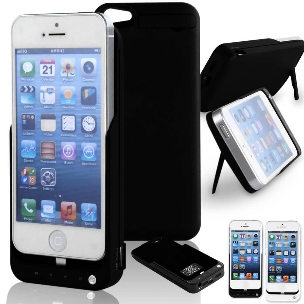 Power Bank Case Juice Pack Plus Powerbank Backcover Iphone 5 Black White Portable Charger 4200mah External Battery For Ynda0873