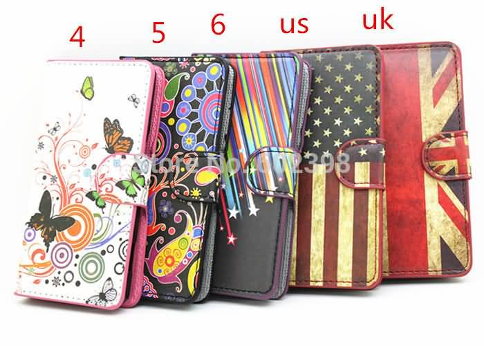 Flower Butterfly Meteor Wallet Leather Magnetic Case Card Holder Stand Phone Cover Skin For Sony Xperia M C1905 Dual C2005