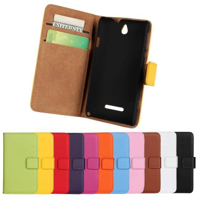Mixed Lot Genuine For Sony Xperia E Dual C1605 Wallet Leather Case Cover , Case with 11 kinds+ 1 pcs / lot