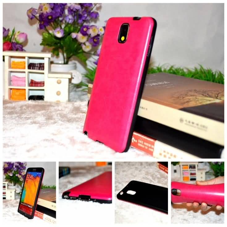 Newest retail n9005 soft pu leather tpu of rubber silicone cell phone bags cases for samsung galaxy note 3 III n9000 covers