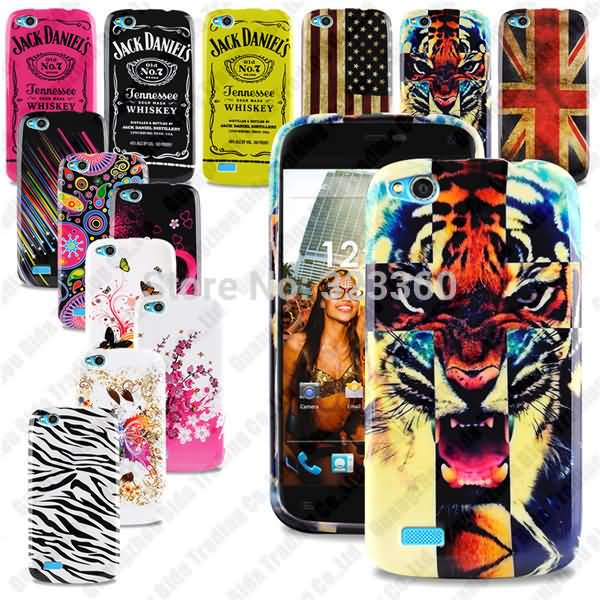Stylish TPU Floral Printed Gel Silicone Protection Back Case Cover For Fly IQ4410 With
