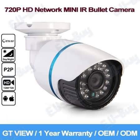 GT View 1280*720P HD Mini IR-Bullet IP Camera ONVIF Waterproof Outdoor Night Vision, !