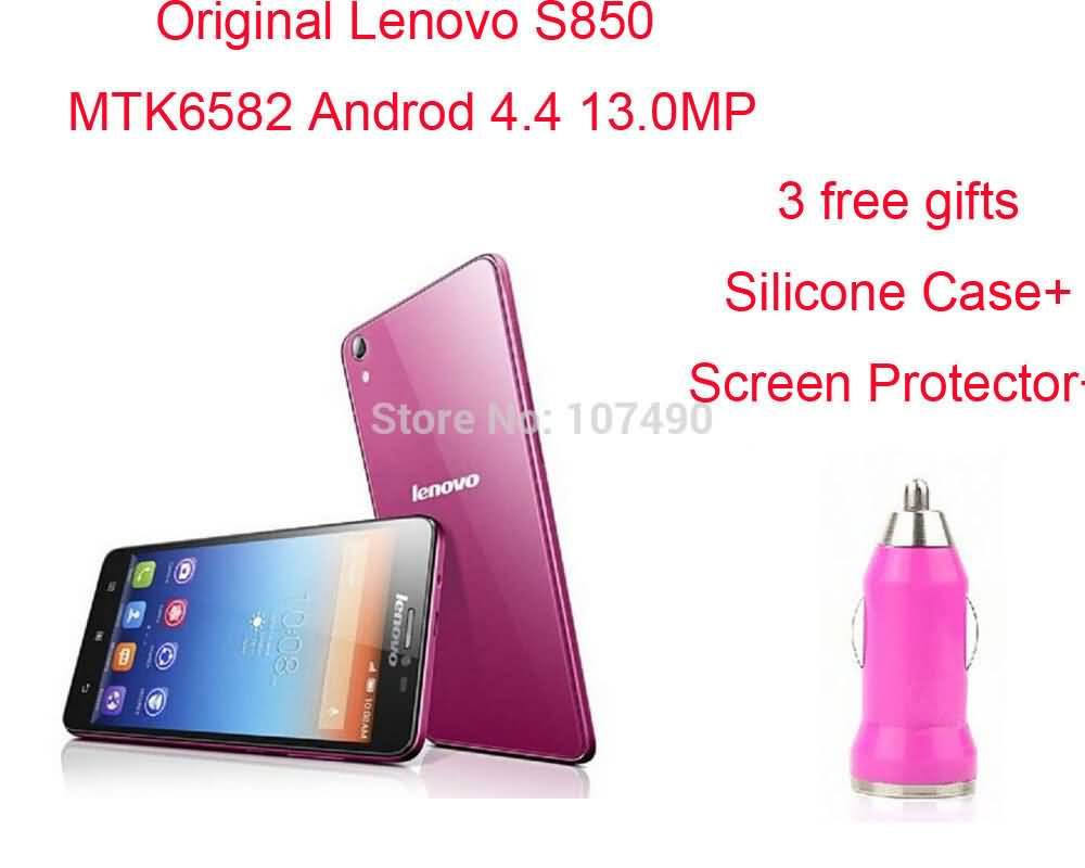 Android Phones Lenovo S850 Quadcore Processor Original 44 Mtk6582 Quad Core 1gb Ram 16g Rom 50 130mp 1280 X 720 Gps Wcdma Alina
